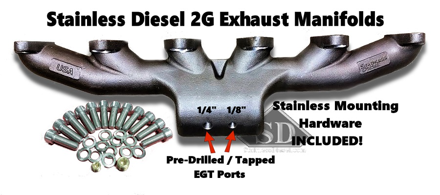 t 6 12 valve stainless diesel exhaust manifold