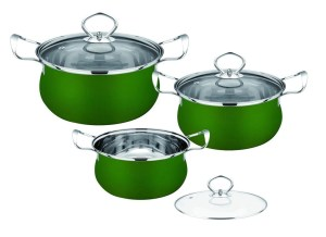 Ss410 Stainless Steel Non Stick Cookware Home Kitchen Pan Set Eco Friendly