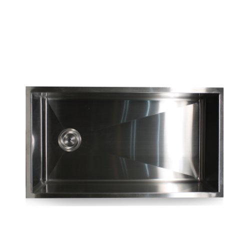 Medium image of nantucket sinks zr3218 32 inch pro series single bowl undermount kitchen sink with offset drain stainless steel