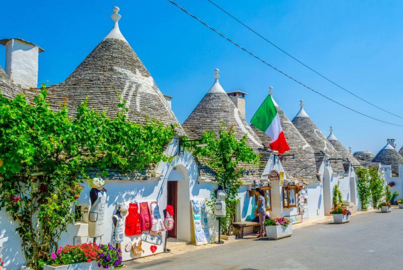 Trulli houses, the dry-stone huts in Puglia
