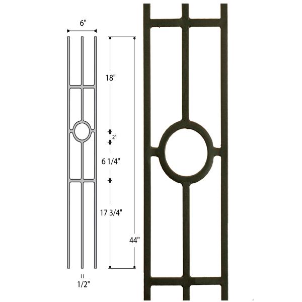 hollow Three Legged Ring Iron Baluster