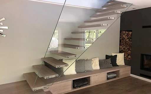 Design Stairs In Glass Wood Steel And Corian By Siller Siller | Center Staircase House Plans | Georgian House | Spiral | Split | Room | Contemporary