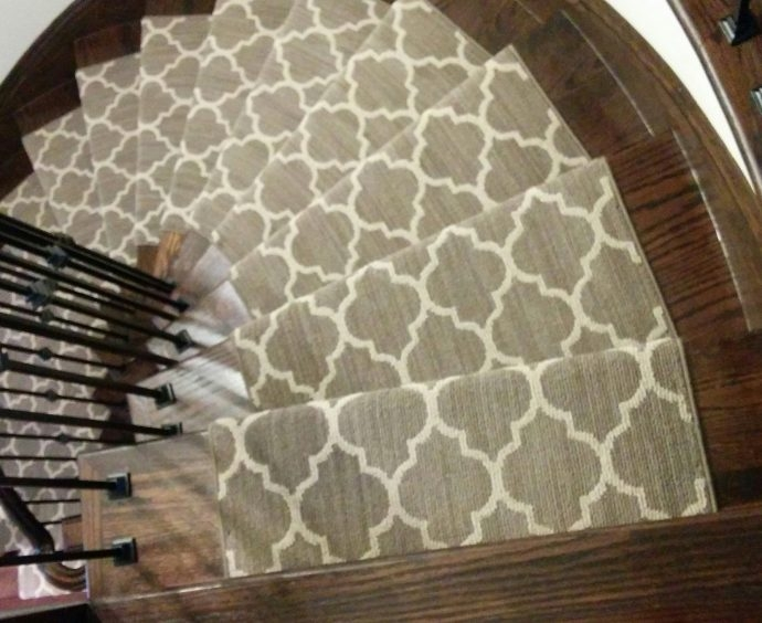 Stair Runner Toronto Hallway Carpet And Stair Runners Installation | Modern Carpet Runners For Stairs | Geometric | Design | White | Curved | Kitchen Modern