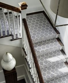 Stair Runner Ideas Stairs Carpet Runners Staircase Carpeting | Carpet For Bedrooms And Stairs | Modern Staircase | Staircase Remodel | Dark Grey Carpet | Stair Railing | Stair Treads