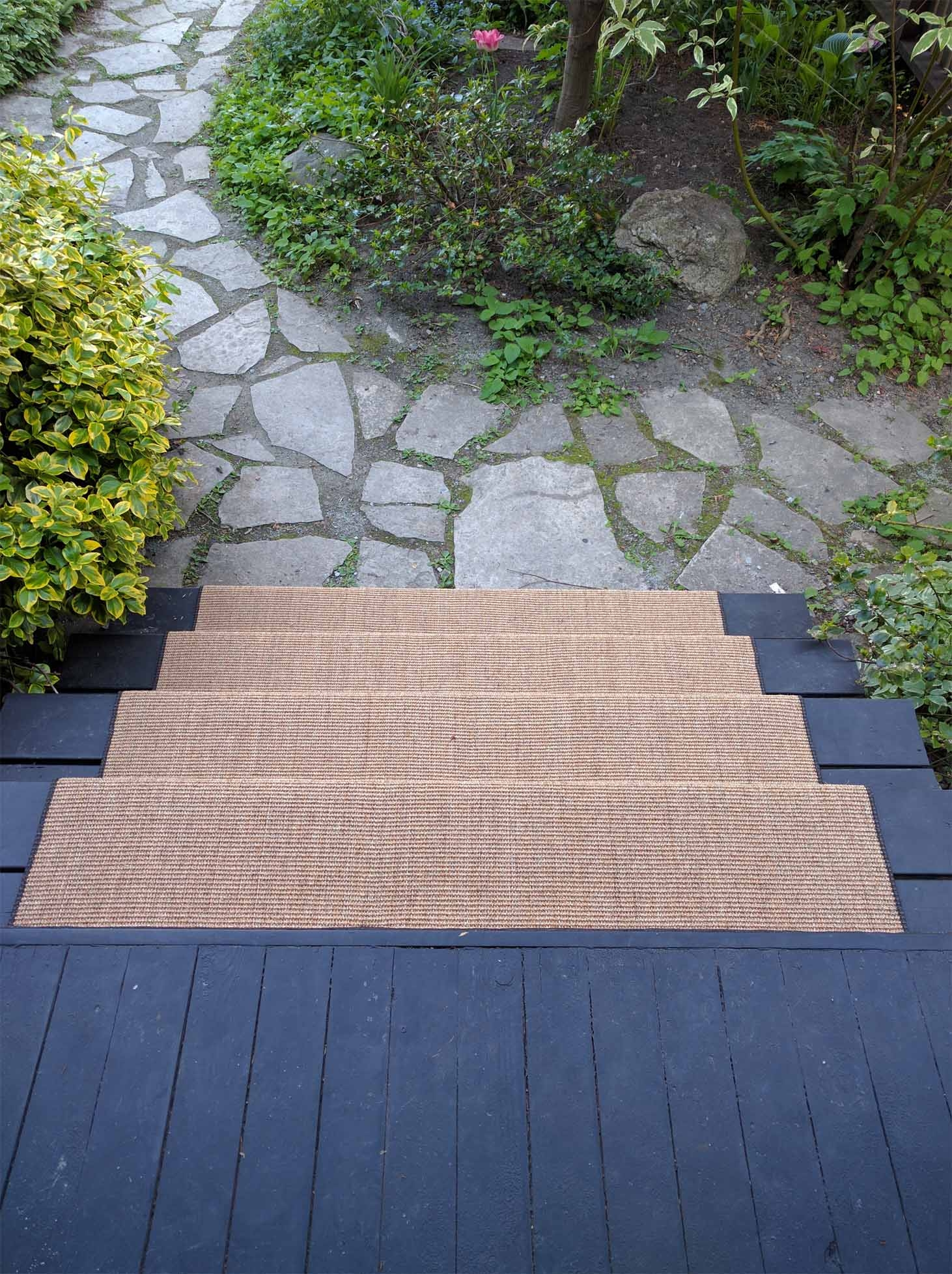 Outdoor Carpet For Stairs And Porch Stairs First | Outdoor Carpet For Steps | Front Entrance | Marine | Navy Pattern | Rubber | Diy