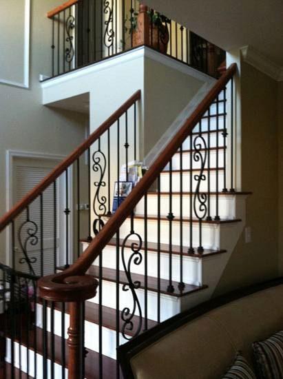 White Metal Deck Railing