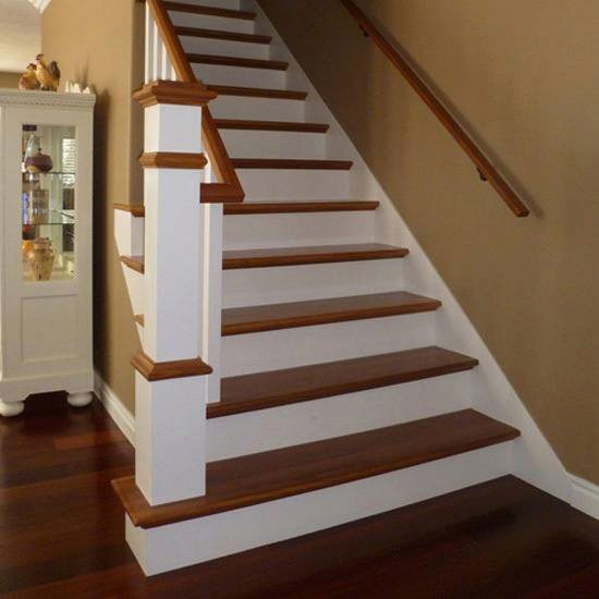 Stair Treads Stairsupplies™ | Distressed Wood Stair Treads | Oak Stair | Bullnose Manufacturing | Straight Edge Wood | White Oak | Heavy Timber Stair