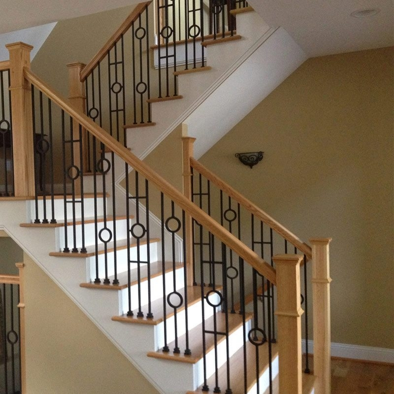 Choosing Wood Or Wrought Iron Balusters For Your Home | Iron And Wood Staircase | Traditional | Spiral | White | Internal | Cherry Wood