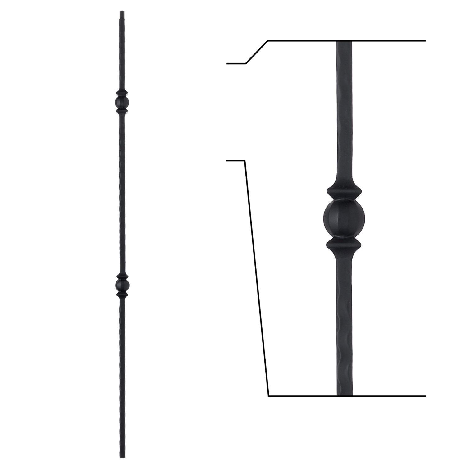 16 1 27 Double Knuckle Iron Baluster