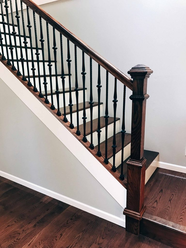 16 1 8 Double Knuckle Iron Baluster Stairsupplies™ | Black Metal Spindles For Staircase