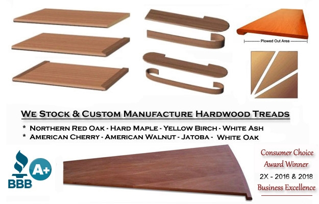 Stair Treads Risers — Stair Treads Usa | Unfinished Stair Treads And Risers | Indoor Decorative Stair | Custom | Red Oak | Wood Plank | Hickory