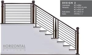 House Of Forgings Horizontal Metal Stair Railing Systems   Metal Horizontal Stair Railing   Art Deco   Modern Style   Brushed Nickel   Split Level Foyer   Deck