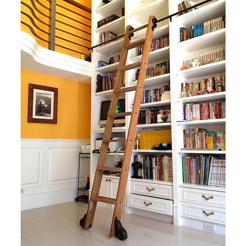 quiet glide rolling library ladder