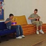 James and Kiefer providing some music