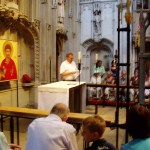 Prayers at the shrine of St Alban