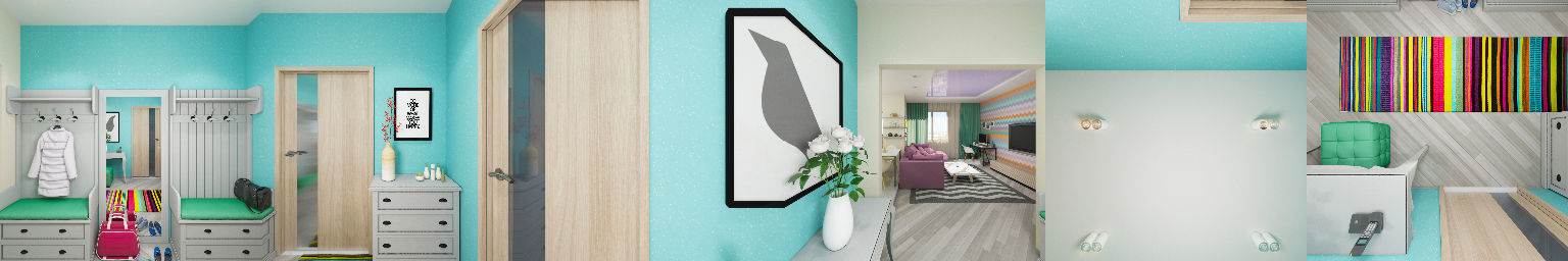 Intérieur d'appartement à 360°