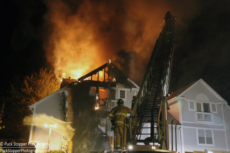 3 Alarm Fire Quickly Contained by Stamford Fire Fighters