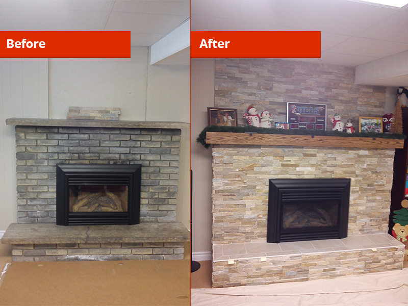 Finished Fireplaces Drywall