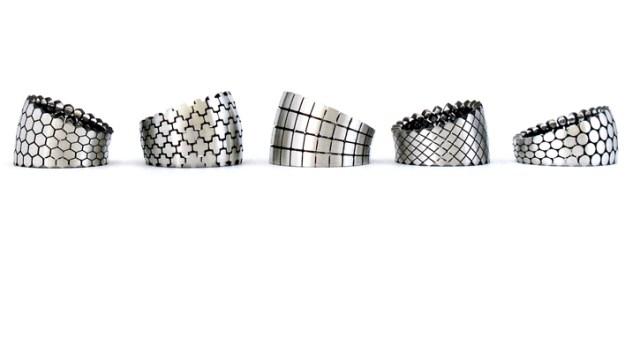 stampa 3d a metallo gioielli cinnamon lee design