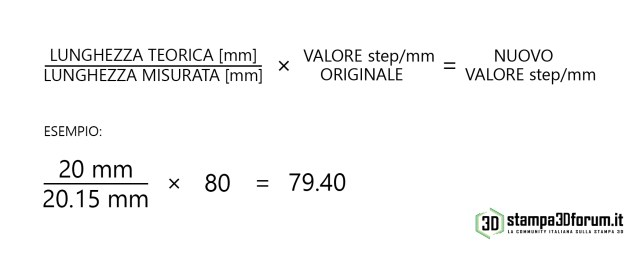 Calibrazione assi X Y Z