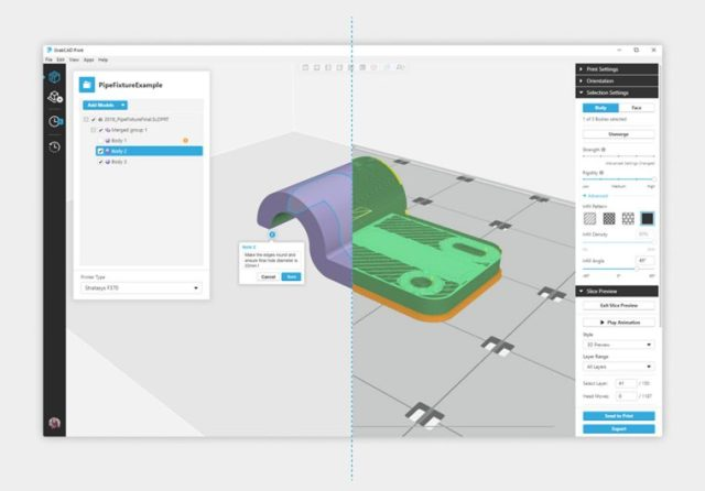 conversione CAD STL