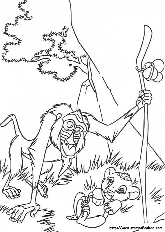 disegni de il re leone