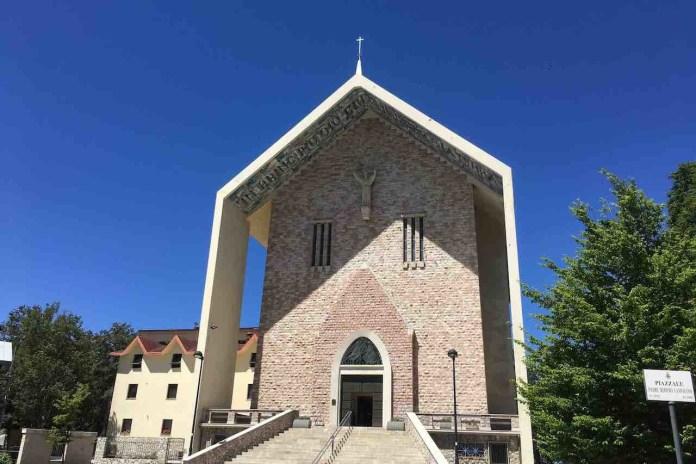 Terminillo, la chiesa di San Francesco dall'esterno