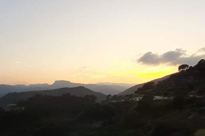 Savoca, il panorama al tramonto