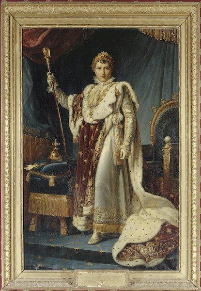 Napoleone con gli abiti dell'incoronazione