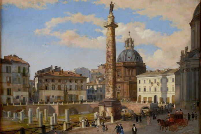 Napoleone e il mito di Roma, il Foro Traiano dopo gli scavi dei Francesi
