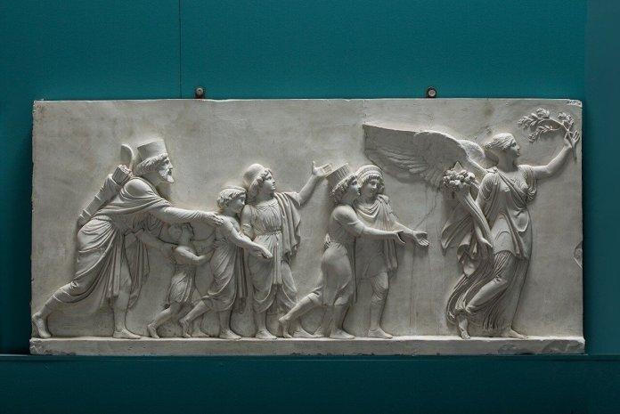 fregio con il Trionfo di Alessandro Magno a Babilonia