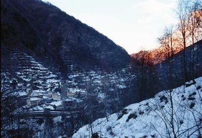 Viganella, ombra nel borgo da novembre a febbraio