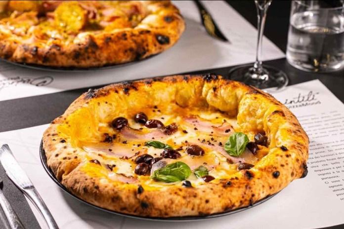 Pizza del ristorante Iquintili