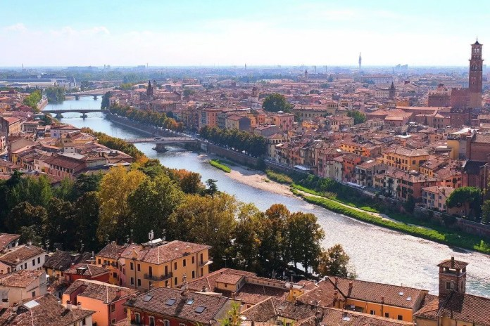 Verona, veduta della città