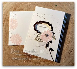 Congrats with Pink Pirouette Flower