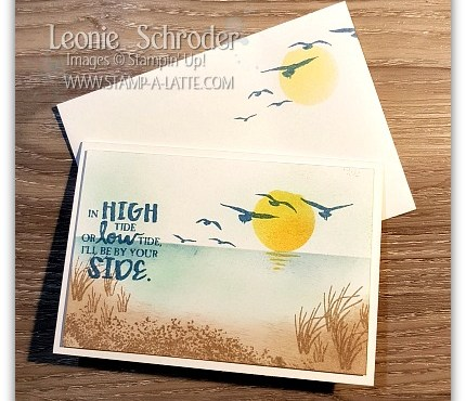 sponged Sunset with High Tide - Leonie Schroder Independent Stampin' Up! Demonstrator Australia