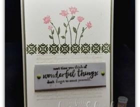 Vintage Flower card using Background Bits Hostess Sets by Leonie Schroder Independent Stampin Up Demonstrator