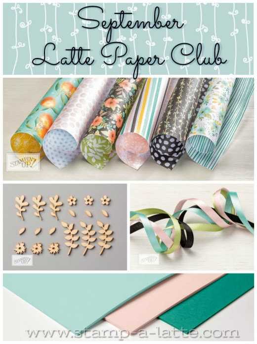 Get the September Latte Paper Club from Leonie Schroder Independent Stampin' Up! Demonstrator Australia