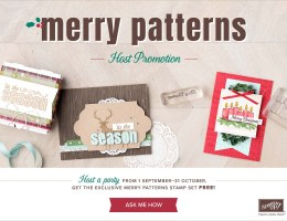 Merry Pattern Exclusive Host Stamp set
