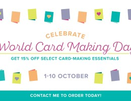 Shop with Leonie & Save 15% to Celebrate World Card Making Day