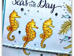 Seahorses using Stampin' Blends from Stampin Up by Leonie Schroder Independent Demonstrator Australia
