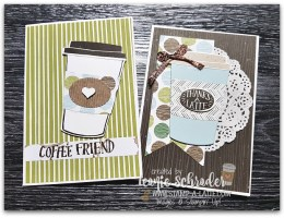 Coffee Break Notecards by Leonie Schroder Independent Stampin' Up! Demonstrator Australia