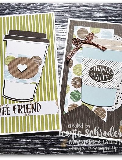 Coffee Break Notecards by Leonie Schroder Independent Stampin' Up! Demonstrator Australia