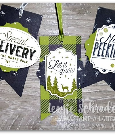Merry Little Labels Tag Set by Leonie Schroder Independent Stampin' Up! Demonstrator Australia