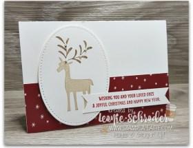 Joyful Deer using Merry Mistletoe by Leonie Schroder Independent Stampin' Up! Demonstrator Australia