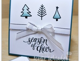 Watercolor Christmas Trees by Leonie Schroder Independent Stampin' Up! Demonstrator Australila