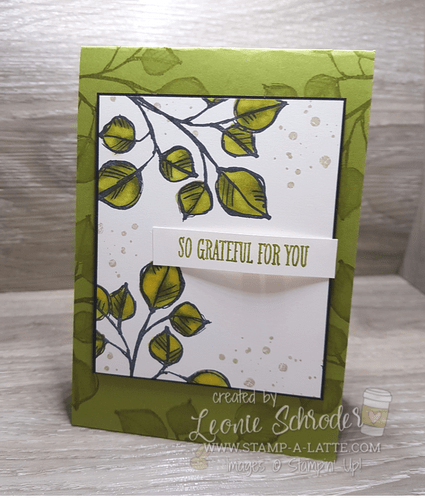 Grateful for You Card by Leonie Schroder Independent Stampin' Up! Demonstrator Australia
