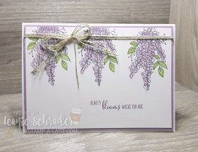 Hanging Lots of Lavender by Leonie Schroder Independent Stampin' Up! Demonstrator Australia