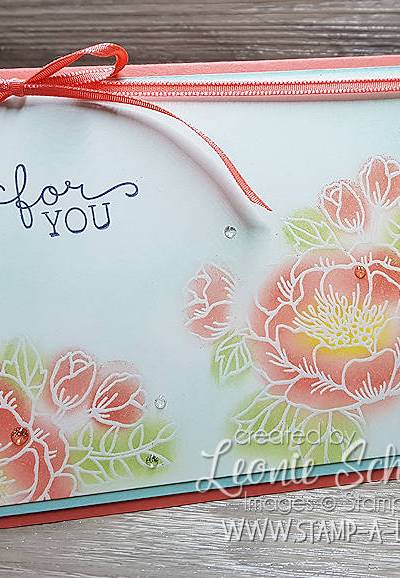 Stepping it Up with Coral Birthday Blooms by Leonie Schroder Independent Stampin' Up! Demonstrator Australia