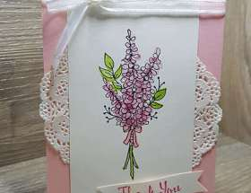 Lots of Lavender Thank you by Leonie Schroder Independent Stampin' Up! Demonstrator Australia